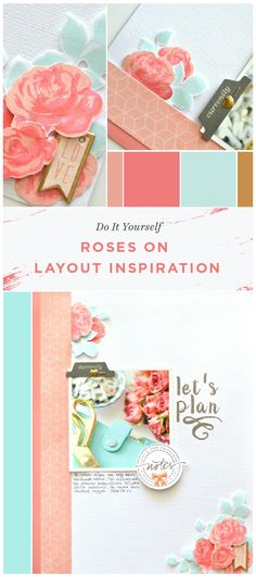 We are so in love with Flora's scrapbook layout! She used nice Altenew stamp set combination - Vintage Roses and sentiments from Calligraphy Alpha. Check out our blog to learn more about this. www.altenew.com