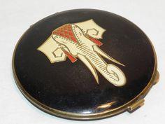 Vintage 1950s French Elephant Powder Compact £89 at www.lavenderhillantiques.com