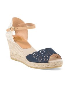 Made+In+Spain+Suede+Laser+Cut+Espadrille