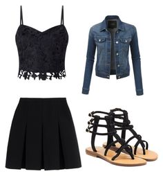 """""""I'm bored comment what I should do"""" by delaney-p-h ❤ liked on Polyvore featuring Lipsy, Alexander Wang, Mystique and LE3NO"""