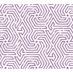 China Seas Maze Wallpaper in Purple (2510-12WP). We sell the full line of Quadrille, China Seas, Alan Campbell and Cloth and Paper fabric and wallpaper in our shop. Guaranteed first quality and $10 loan samples offered.