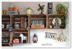 Wohnideen Obstkisten küchenregal aus weinkisten und palette geniale idee wohnideen