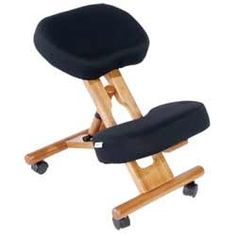 Healthy Back Natural Fit Wooden Kneeling Chair w/ Memory ...