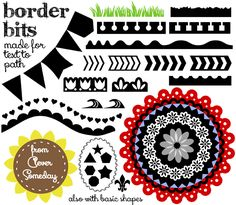 Border Bits - a new free dingbat font dingbats font to cut text on a path Silhouette Cutter, Silhouette Clip Art, Silhouette Images, Silhouette Portrait, Silhouette Cameo Projects, Silhouette Machine, Silhouette Studio, Silhouette Files, Free Dingbat Fonts