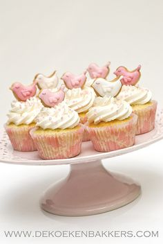 Sweet bird cupcake toppers