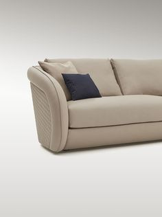 Salone del Mobile 2016 new collection. Beaumont is an elegant and sleek range of furniture including sofa and armchair. The wide, curvaceous frame surrounds a comfortable seat. The frame is available upholstered in a quilted diamond stitch, or in precious briar root. The design of the armrest extends outwards from the frame. The result is aerodynamic and modern, yet the overriding sensation is inviting and relaxing. #Luxury #Living