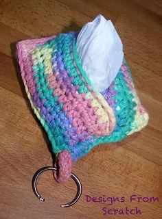 Dog poopy bag holder: free pattern