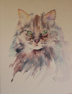 """Excuse me?""   Cat in watercolour 2016     Well before my world crashed recently I was painting feeling as though I had crossed a bridg..."