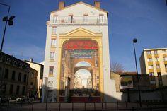 Le mur peint de Charpennes à Villeurbanne  LYON