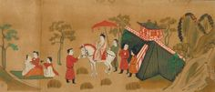 The Illustrated Sutra of Cause and Effect. Nara period, ~8th century