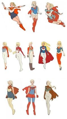 Supergirl Redesigns by Cory Walker Character Poses, Female Character Design, Comic Character, Character Concept, Dc Comics Characters, Female Characters, Comic Books Art, Comic Art, Arte Dc Comics