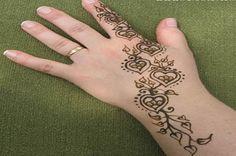 Easy to Do Henna Designs | Henna Design Meanings For Hand Feet Arabic Beginners Kids Men