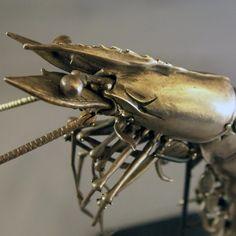 Sterling Silver Articulated Shrimp