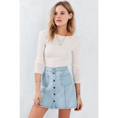 Kimchi Blue Darcey Cropped Top ($39) ❤ liked on Polyvore featuring tops, peach, scoop back top, crop top, boat neck tops, bateau neck top and boatneck top