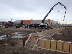 Grade beam foundation being poured.