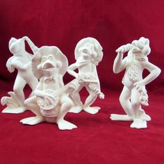 Ceramic Ready to Paint Musical Frog Band   5.5-6.5 by aarceramics
