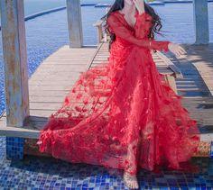 Red Beach Dresses, Cute Dresses, Summer Dresses, Summer Maxi, Maxi Dresses, Beautiful Dresses, Long Sleeve Maxi, Maxi Dress With Sleeves, Lace Dress