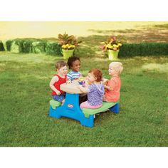 The Little Tikes Endless Adventures Easy Store Jr. Picnic Table is an indoor/outdoor table that