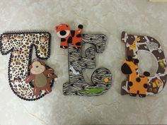 Nursery Letters Custom Decorated  Great gift!