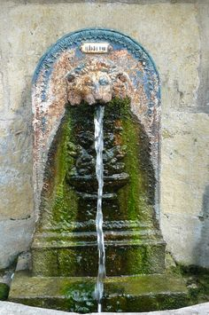 Old French Fountain. love the blue, green and clay colors! Magic Fountain, Fountain Of Youth, Pool Water Features, Water Features In The Garden, Garden Fountains, Water Fountains, By Any Means Necessary, French Countryside, My Secret Garden