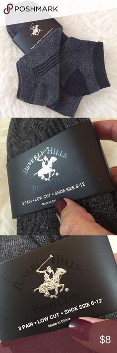 Beverly Hills🏇Polo Socks! Beverly Hills🏇Polo Socks! Brand New! Low cut style athletic socks, great brand and quality. Beverly Hills Polo Club Accessories Hosiery & Socks