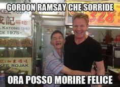 GORDON RAMSAY CHE SORRIDE! http://www.ilpeggiodellarete.it/gordon-ramsay-che-sorride/ #gordonramsay #foto