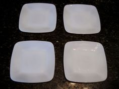 Set of 4 Fire King Azurite Blue Charm Square Plates 6 Very Nice Blue Charm, Square Plates, Anchor Hocking, Vintage Table, Fire, Ebay