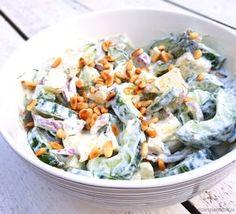 Frisse komkommersalade -