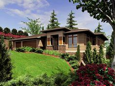 Prairie Style Architecture | Click here to Mirror Reverse plan Right-Reading Reversed surcharge: $ ...