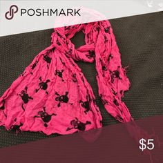 Hot pink skull scarf Hot pink skull scarf Accessories Scarves & Wraps