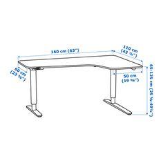 Malm desk with pull out panel white - Bureau ikea noir et blanc ...