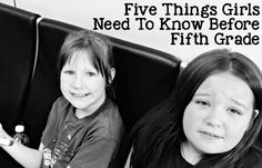 Five Things Girls Need To Know Before Fifth Grade - because it gets harder, but you'll make it through. Click now!
