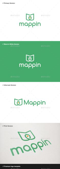 Map Pin Logo - Objects Logo Templates