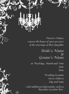 Maybe make some text orange for an eerie Halloween Wedding Invitation? Design: Striking Celebration
