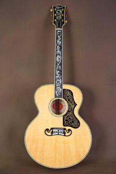 2000 Gibson SJ-200 Custom Vine Ren Ferguson Acoustic Guitar J-200   Reverb