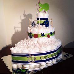 Image result for nautical diaper cake ideas