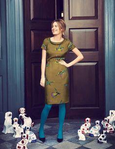 Kleid mit weitem Rollkragen
