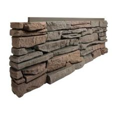 GenStone Stacked Stone Desert Sunrise 12 in. x 38 in. Faux Stone Siding Corner Panel Left Light Brown Base With Tan And Red Hues Faux Stone Veneer, Faux Stone Siding, Faux Stone Panels, Faux Stone Fireplaces, Dry Stack Stone, Paneling Makeover, Do It Yourself Home, Wood, Charcoal Gray