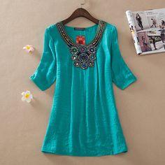 novo vestido de verão 2014 top vestido bordado das mulheres plus size mulheres mulheres de vestido ocasional beading vestido em Vestidos de Roupas & acessórios no AliExpress.com | Alibaba Group