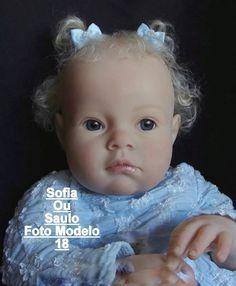 Boneca Bebê Reborn Sofia Ou Saulo Parece Bebê De Verdade - R$ 3.565,00