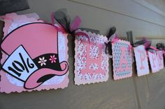 Alice In Wonderland Pink UnBirthday Party  by WhimsicallyCreated, $42.00 - Decor Idea