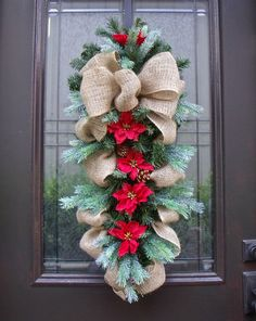 Burlap Christmas Wreath | Rustic Burlap Christmas Wreath | VERY MERRY
