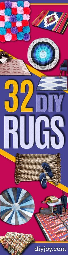 Easy DIY Rugs and Handmade Rug Making Project Ideas - Simple Home Decor for Your Floors, Fabric, Area, Painting Ideas, Rag Rugs, No Sew, Dropcloth and Braided Rug Tutorials http://diyjoy.com/diy-rugs-ideas