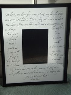 11x14 Custom Mat For 5x7 Photo With Frame Perfect Weddings Engagements Bridal Showers Or Anniversaries