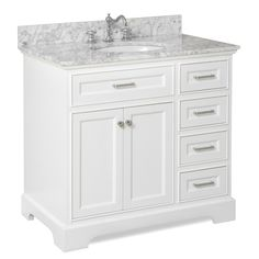 Aria Single Vanity Set by Kitchen Bath Collection 36 Inch Bathroom Vanity, 36 Inch Vanity, Vanity Set, Modern Bathroom, Small Bathroom, Master Bathroom, Bathroom Ideas, Vanity Ideas, Neutral Bathroom