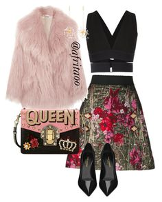"""""""Sin título #424"""" by afritaoo on Polyvore featuring Dolce&Gabbana, Osklen, Miu Miu, Yves Saint Laurent y E L L E R Y"""