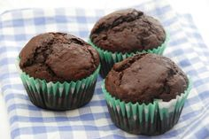 Chokolade muffins med chokoladestykker //// Chocolate muffins with chocolate chips