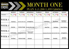 The Master's Hammer and Chisel Workout Schedule | Beachbody ...