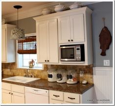 Love The Pendant Light Converter (from Lowes!) And The Built In Microwave