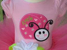 pink lady bug birthday outfit